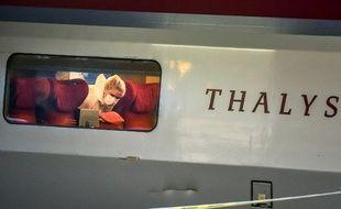 La voiture 12 du Thalys, dans laquelle Ayoub El Khazzani a été maîtrisé le 21 août 2015.