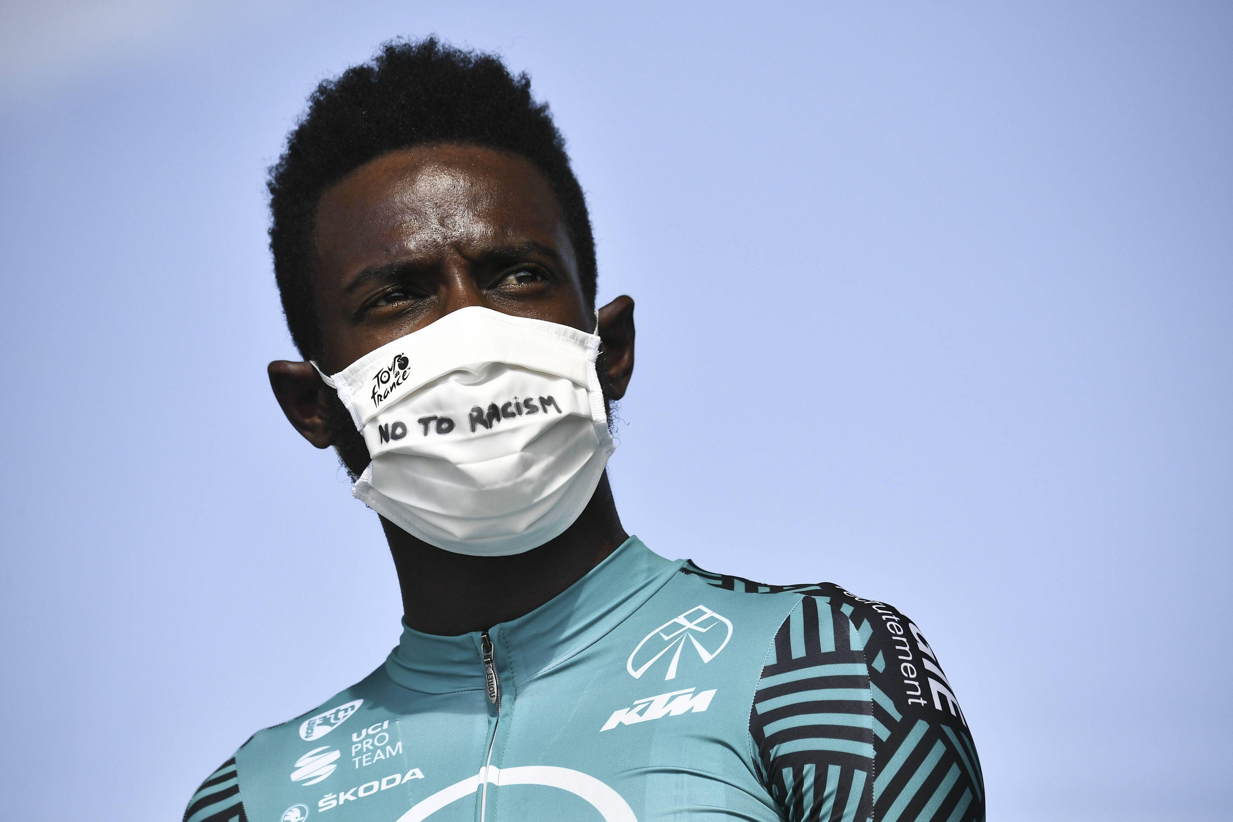 Kévin Réza le 20 septembre 2020, avant la dernière étape du Tour de France entre Mantes-la-Jolie et Paris.
