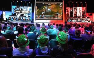 Des joueurs professionnels de «League of Legends» en plein championnat aux Etats-Unis en février 2014.