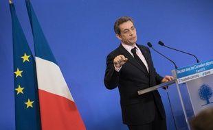 Le président de l'UMP Nicolas Sarkozy, le 8 avril 2015 à Paris.