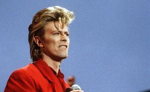 Le chanteur David Bowie en 1987 à Hambourg