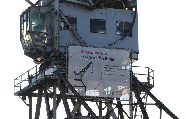 Le 3 décembre 2019, la grue Wellmann, dans le quartier des Bassins à Flot