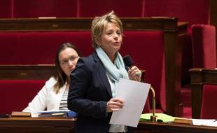 Anne Christine Lang à l'Assemblee Nationale.