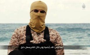 Image extraite d'une vidéo publiée par le Al-Hayat Media Centre (jihadiste) le 15 février 2015 montrant un homme présenté par le Pentagone comme étant Abou Nabil, aussi connu sous le nom de Wissam Najm Abd Zaïd al Zoubaïdi