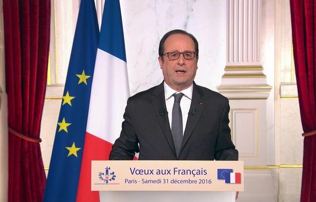François Hollande lors de ses vœux le 31 décembre 2016.