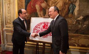 Buon Tan avec François Hollande en 2015