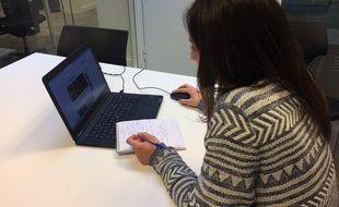 Alexia Ighirri, journaliste 20 Minutes à Strasbourg, dans les locaux de 20 Minutes à Paris le 16 avril 2019.
