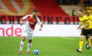 Youssef Aït Bennasser, ici avec l'AS Monaco, le 11 décembre en Ligue des champions, contre le Borussia Dortmund