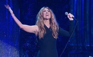 Céline Dion sur scène à Las Vegas, le 2 décembre 2015.