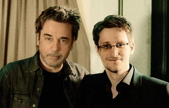 Jean Michel Jarre et Edward Snowden dans une vidéo promotionnelle du «Guardian» le 15 avril 2016.