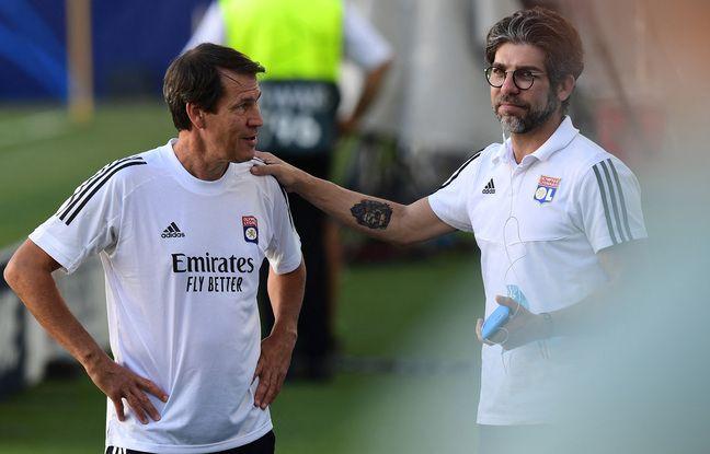 Rudi Garcia et Juninho, ici à Turin l'été dernier avant le 8e de finale retour de Ligue des champions contre la Juventus. Miguel MEDINA
