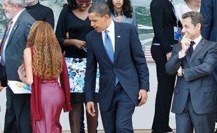 Barack Obama et Nicolas Sarkozy, au G8, en Italie, le 9 juillet