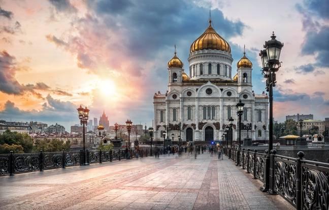 La cathédrale du Christ-Sauveur de Moscou.