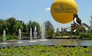 Le ballon captif, l'une des nouveautés du parc Terra Botanica à Angers.