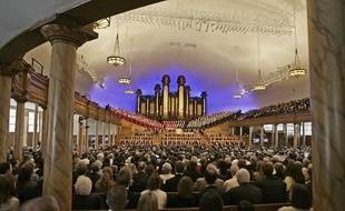 Des Mormons rassemblés lors d'une conférence annuelle aux Etats-Unis, en 2007.