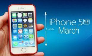 Le photo montage d'un éventuel futur iPhone 5se qui circule actuellement sur la Toile.