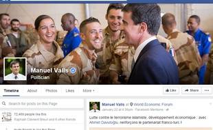 La page Facebook de Manuel Valls