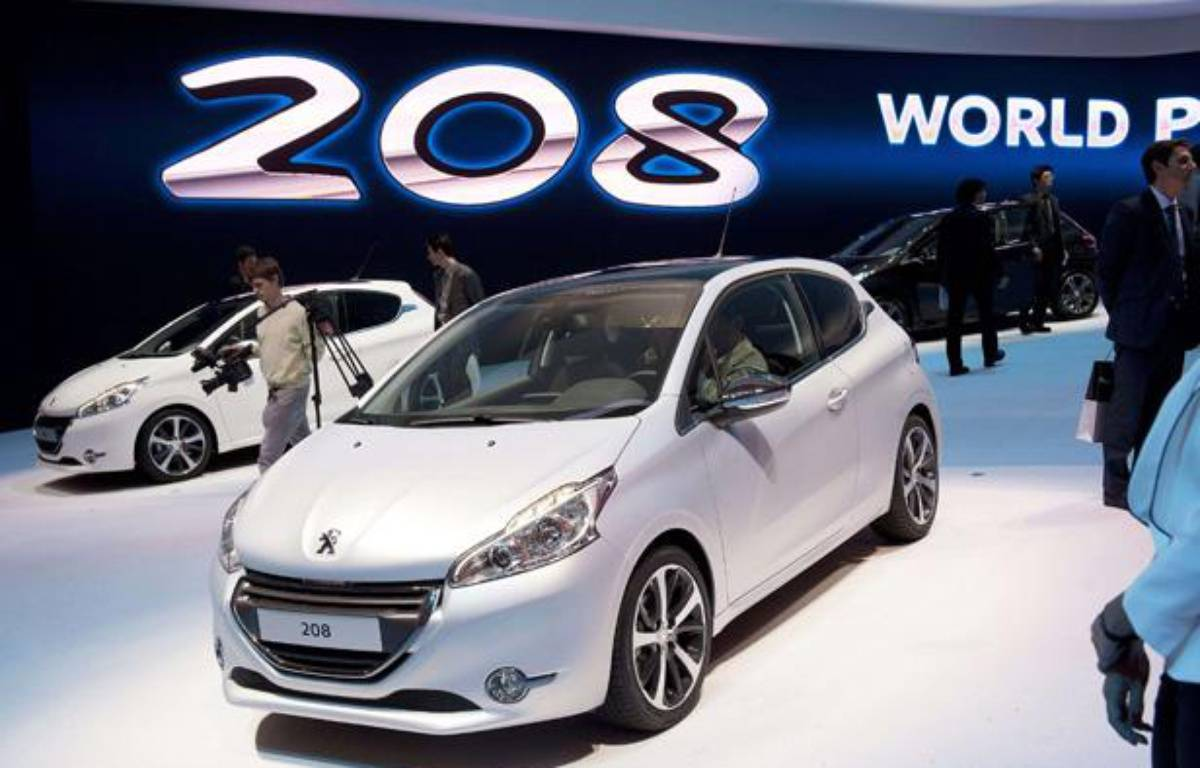 La Peugeot 208 présentée au salon de Genève le 6 mars 2012. – Sandro Campardo/AP/SIPA