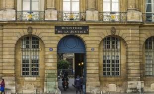 Le ministère de la Justice à Paris.