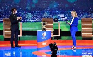 Emmanuel Macron était présent lors du tirage au sort de la Coupe du monde 2023.