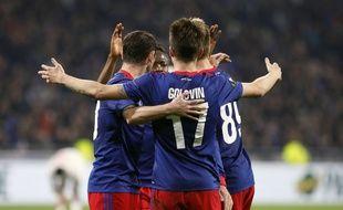 Les joueurs du CSKA Moscou à Lyon