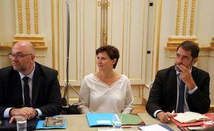 Roxana Maracineanu, nouvelle ministre des Sports, lors de son premier Conseil des ministres, le 5 septembre 2018.