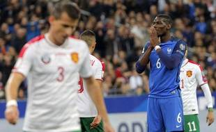 Paul Pogba lors du match France-Bulgarie (4-1), au Stade de France, le 7 octobre 2016.