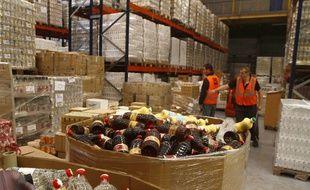 Le site logistique de la Banque Alimentaire du Nord, à Lille.