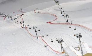 La descente de St Moritz a été annulée à cause du brouillard.