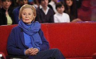 La comédienne Michèle Morgan sur le plateau de «Vivement Dimanche» en 2009
