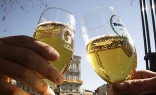 Verres de bière, à Toulouse.