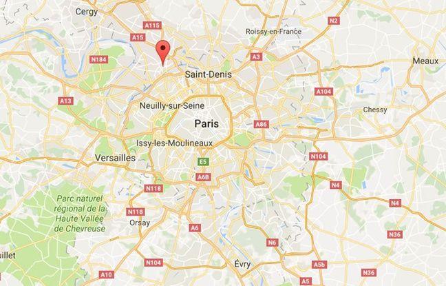 Carte de localisation d'Argenteuil (Val-d'Oise).
