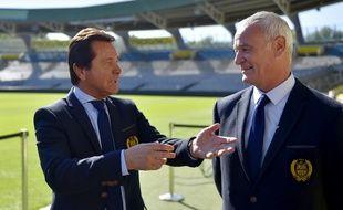 Waldemar Kita avec son coach Claudio Ranieri.