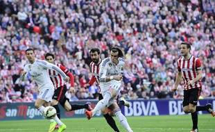 Gareth Bale lors du match entre l'Athletic Bilbao et le Real Madrid le 7 mars 2015.