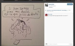Capture d'écran du compte Instagram de Joann Sfar, le 08 avril 2014