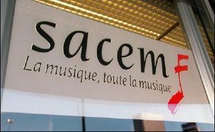 La SACEM, Société des auteurs, compositeurs et éditeurs de musique, principale institution de collecte et de répartition des droits d'auteur