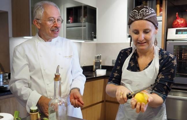 Le chef Jacques Chibois et Nadège Deville