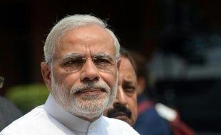 Le Premier ministre indien Narendra Modi, au Parlement indien à Delhi le 21 juin 2015