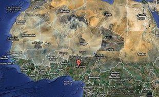 Carte de localisation du Nigéria.