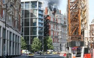 L'incendie au Mandarin Oriental, un hôtel londonien 5 étoiles a été maîtrisé, le 6 juin 2018.