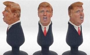 Donald Trump transformé en plug-anal