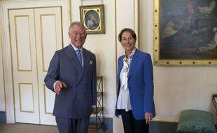 Le Prince Charles et Ségolène Royal, le 28 mai 2015 à Londres.