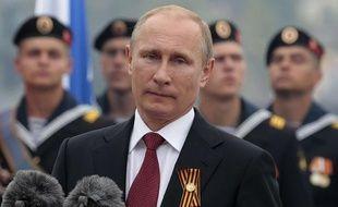 Vladimir Poutine, en visite le 9 mai 2014 à Sébastopol (Crimée).