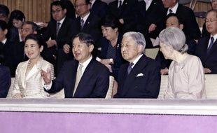 Naruhito et Akihito, ex-futur et futur ex empereur du Japon.