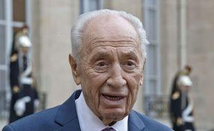 Shimon Peres avait été reçu par François Hollande à l'Elysée le 25 mars 2016