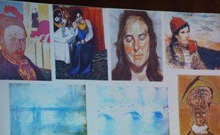 Les tableaux volés du musée Kunsthal de Rotterdam en octobre 2012.