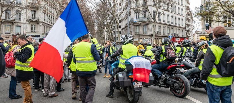 Manifestation des gilets jaunes, Lyon (illustration)