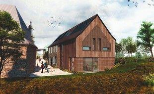 Le visuel du projet de gîte rural de Saint-Georges-de-Chesné, en Ille-et-Vilaine.