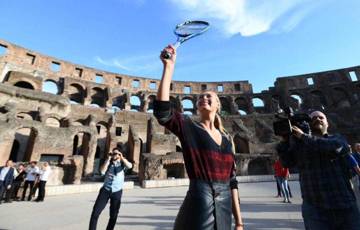 Maria Sharapova dans le Colisée à Rome, le 14 mai 2017. – Vincenzo PINTO / AFP