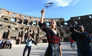 Maria Sharapova dans le Colisée à Rome, le 14 mai 2017.